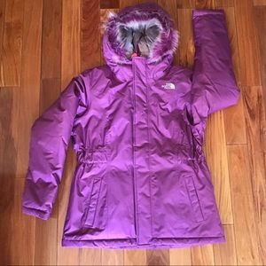 Girls North Face Winter Jacket sz XL